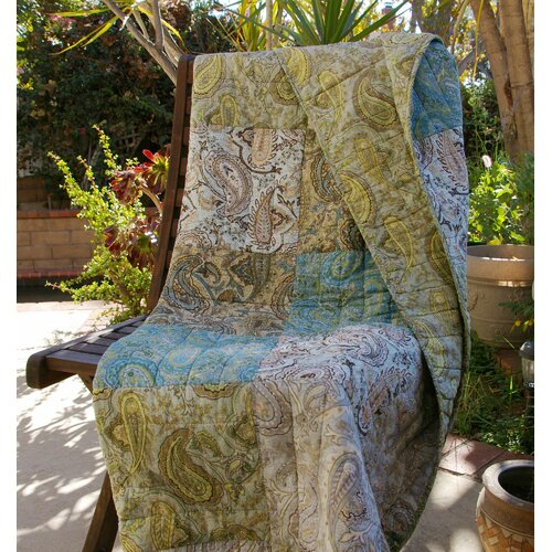 Vintage Paisley Cotton Throw