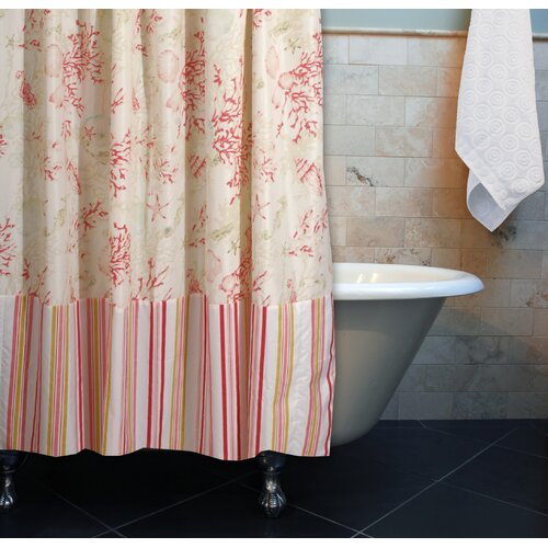 Coral Red Shower Curtain