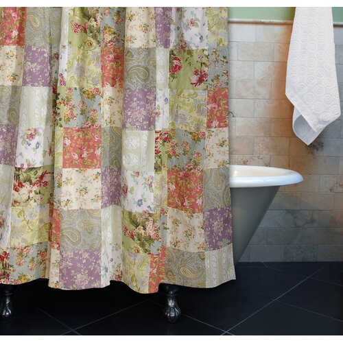 Greenland Home Fashions Blooming Prairie Patchwork Shower Curtain