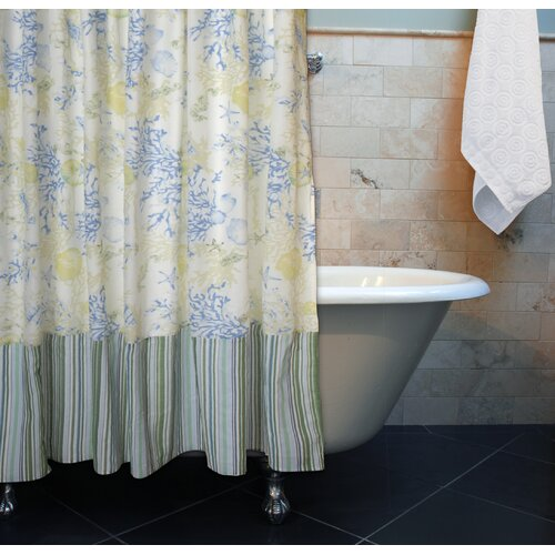 Coral Blue Shower Curtain