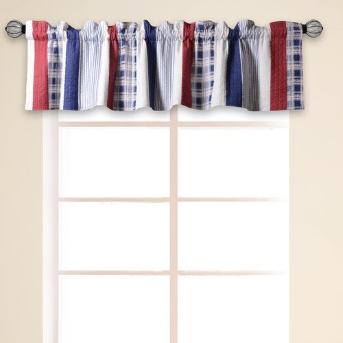 Greenland Home Fashions Nautical Stripe Quilted 84 Curtain Valance Reviews Wayfair