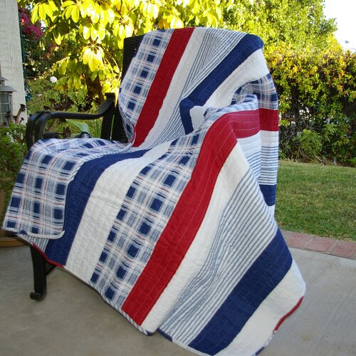 Greenland Home Fashions Nautical Stripe Cotton Throw