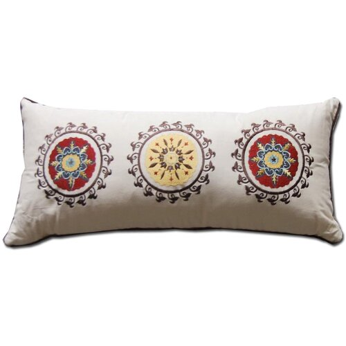 Greenland Home Fashions Andorra Embroidered Decorative Pillow
