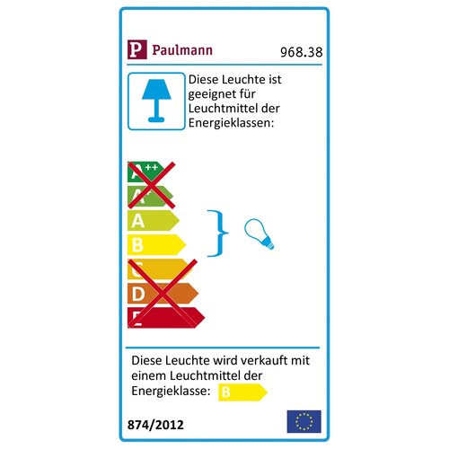 "Paulmann USchienensystem Set Pharus aus Metall in ""Deco"" pipe Titan"