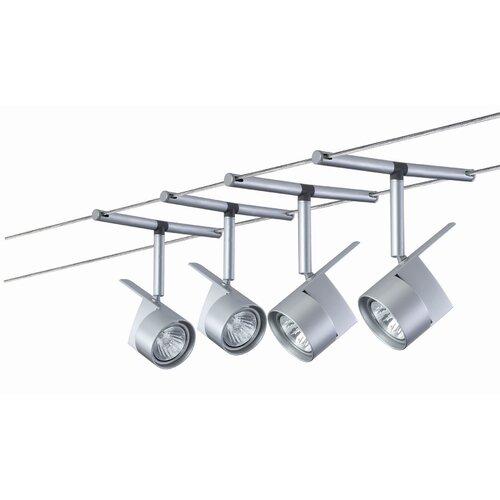 Paulmann 4 x 50 Watt Seilsystem EasyPower aus Metall in Chrom