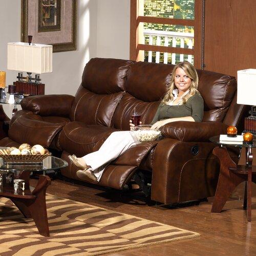 Dallas Top Grain Leather Reclining Sofa