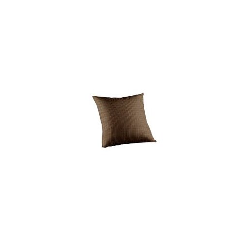 Patch Magic Dark Brown Plaid Toss Pillow