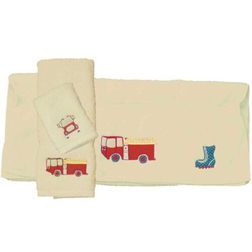 Fire Truck Bath Towel (Set of 3)