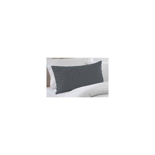 Blue and White Plaid Pillow Sham
