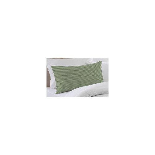 Green Mint and White Gingham Checks Pillow Sham