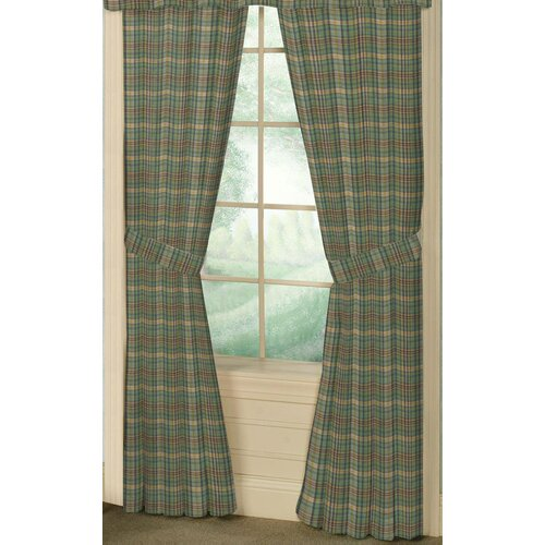 Patch Magic Green Yellow Plaid Cotton Tab Top Bed Curtain Single Panel