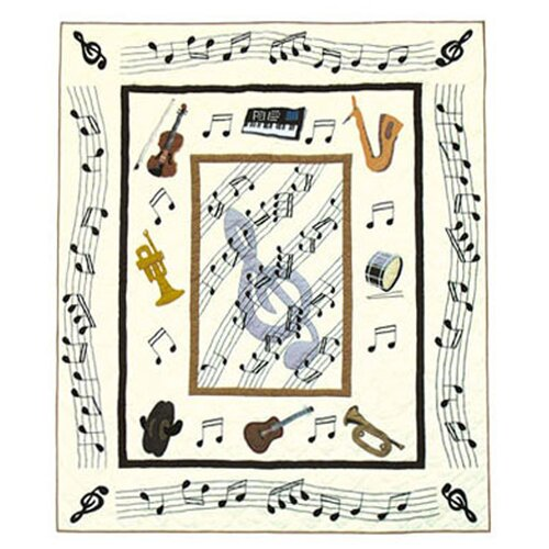 Music Cotton Throw