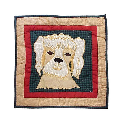 Patch Magic Fido Dog Toss Pillow