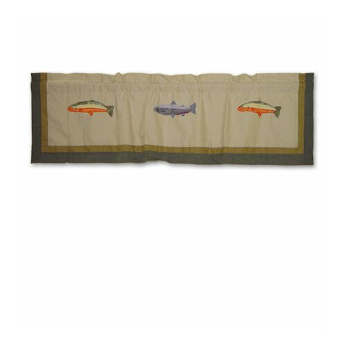 """Patch Magic Fly Fishing 54"""" Curtain Valance"""