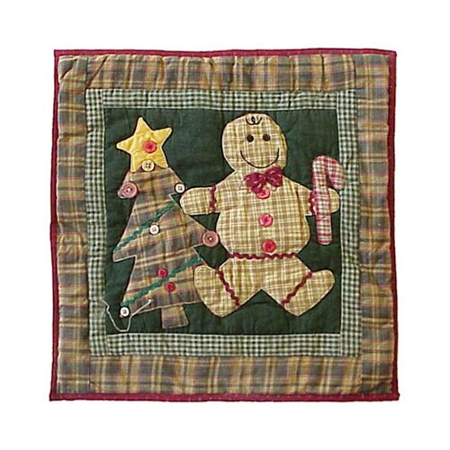 Patch Magic Gingerbread Family Toss Pillow
