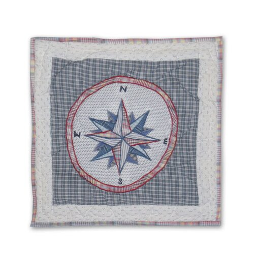 Nautical Compass Toss Pillow