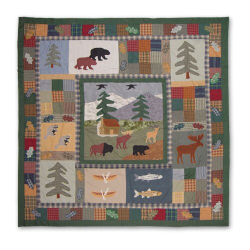 Northwoods Walk Cotton Shower Curtain