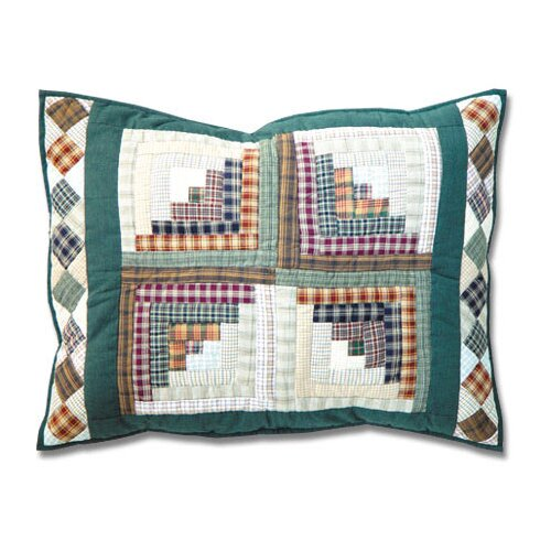 Patch Magic Peasant Log Cabin Pillow Sham