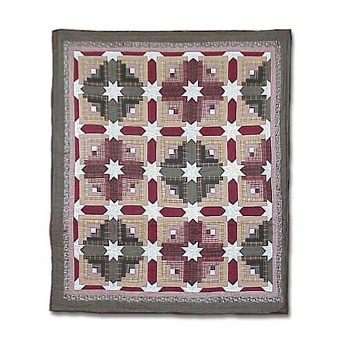 Patch Magic Snowflake Log Cabin Quilt