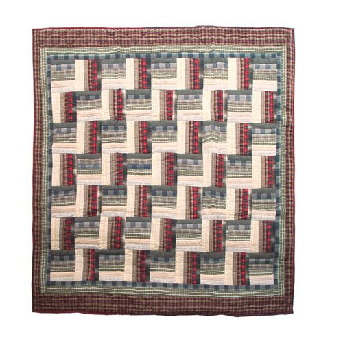 Patch Magic Stepping Stone Cotton Throw Quilt