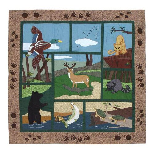 Patch Magic Wilderness Cotton Shower Curtain