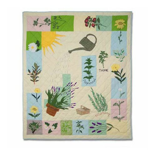 Herb Garden Throw Quilt
