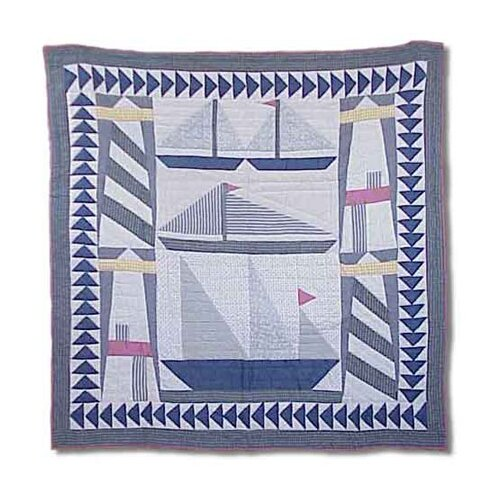 Light and Sails Throw Quilt