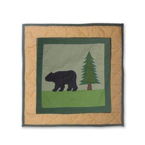 Patch Magic Lodge Fever Bear Toss Pillow