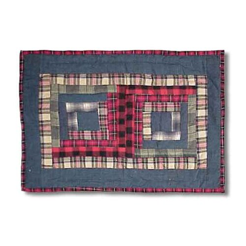 Red Log Cabin Placemat (Set of 4)