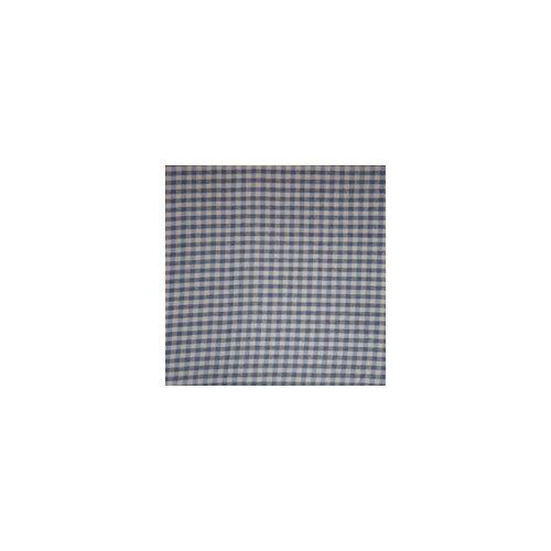Patch Magic Blue and Ecru Gingham Checks Cotton Curtain Panel