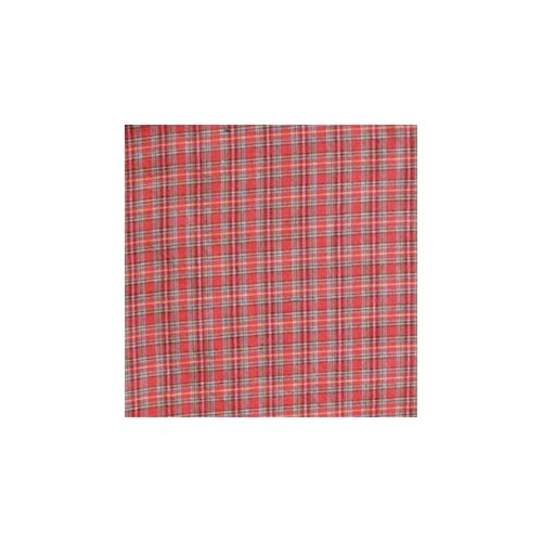 Patch Magic Red Plaid and Green Black Lines Bed Skirt / Dust Ruffle