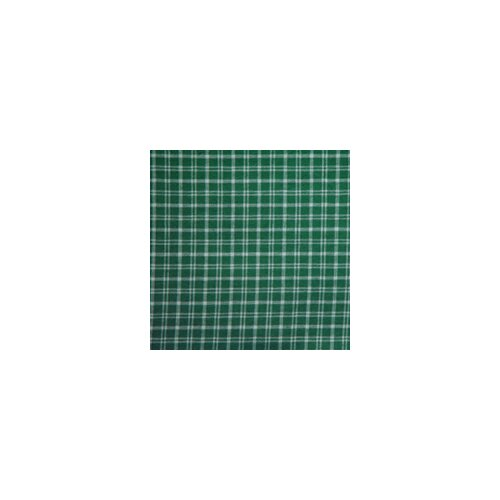 Green and White Plaid Bed Skirt / Dust Ruffle