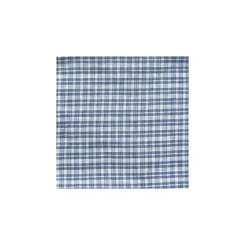 "Patch Magic Blue and White Plaid 54"" Curtain Valance"