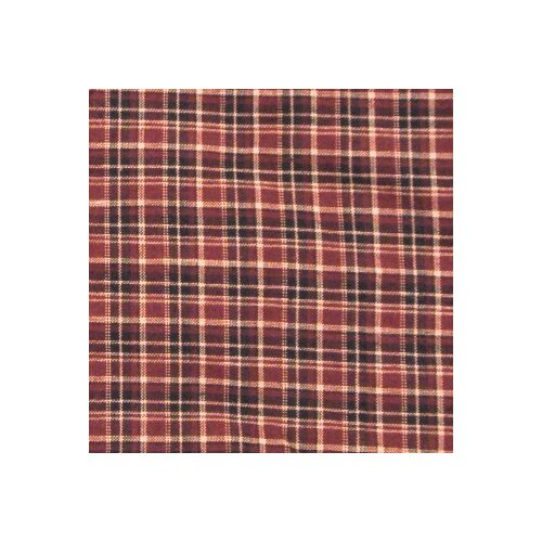 Patch Magic Maroon Plaid Toss Pillow