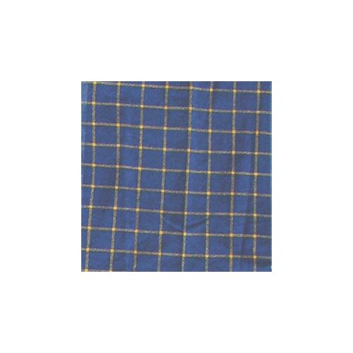Patch Magic Blue and Yellow Plaid Cotton Curtain Panel