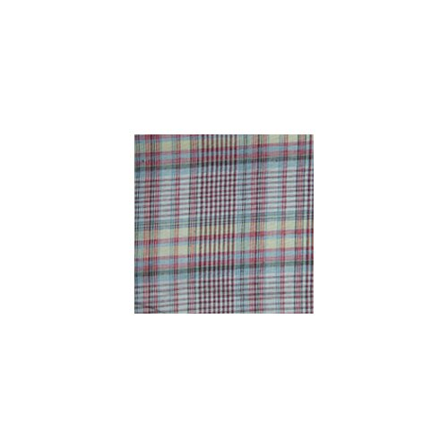 Red Lines and Off White Plaid Toss Pillow