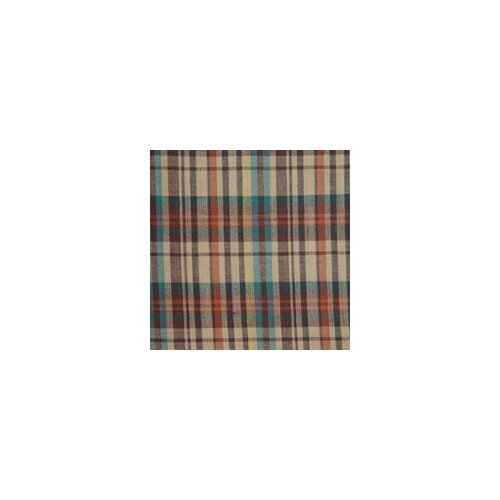 Multi Brown and Tan Plaid Toss Pillow