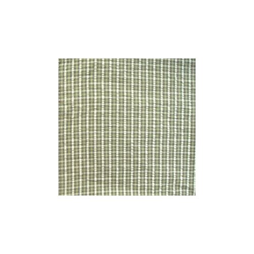 Checks with Ecru Bed Skirt / Dust Ruffle