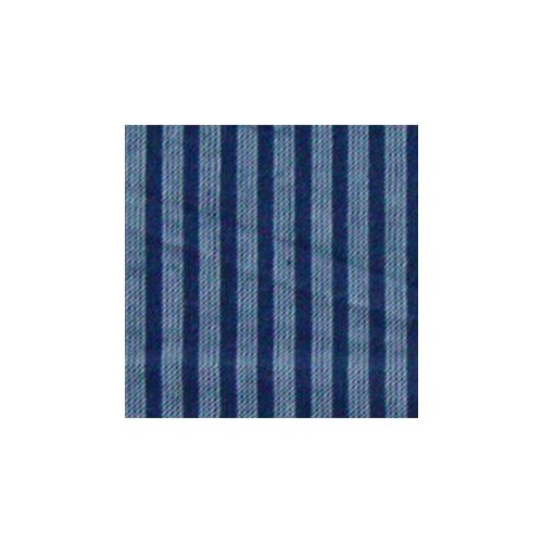 "Patch Magic Blue and Horizontal White Stripes 54"" Curtain Valance"