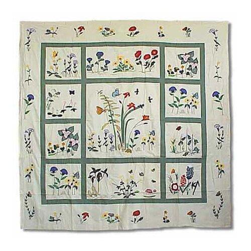 Wildflower Cotton Shower Curtain