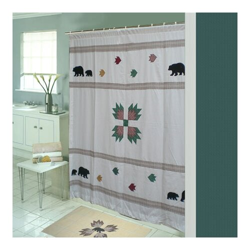 Bear's Paw Cotton Shower Curtain