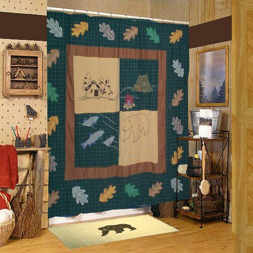 Patch Magic Cabin Cotton Shower Curtain