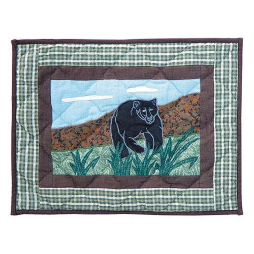 Bear Country Cotton Crib Toss Pillow