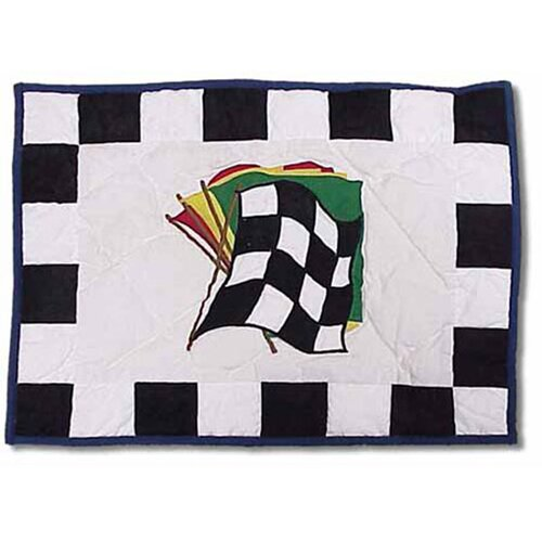 Patch Magic Racecar Cotton Crib Toss Pillow