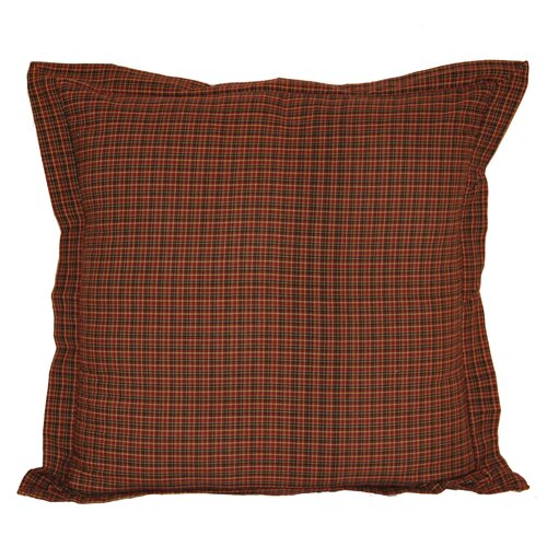 Patch Magic Dark Red and Black Plaid Sham