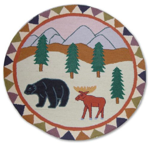 "Patch Magic Mountain Whispers 36"" Round Novelty Rug"