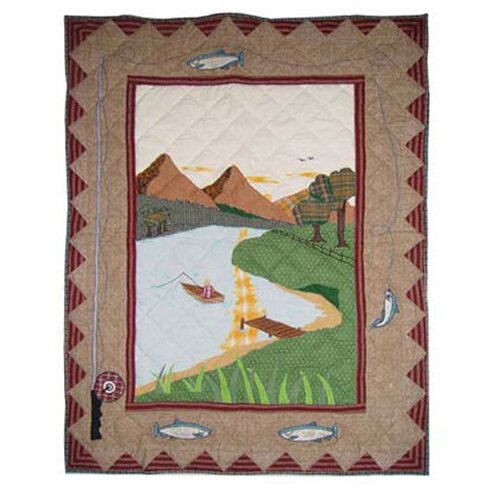 Patch Magic Gone Fishing Cotton Crib Quilt