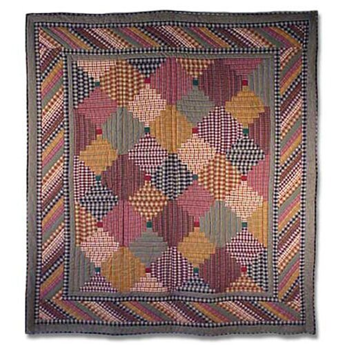Patch Magic Harvest Log Cabin Quilt