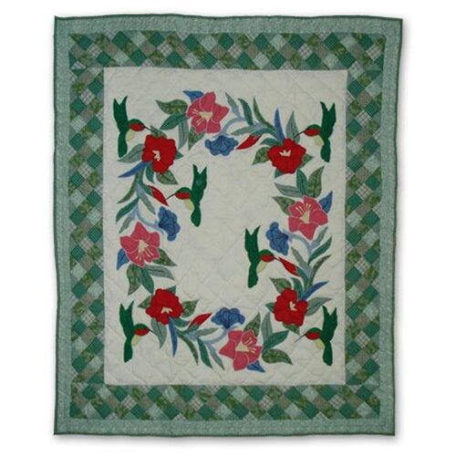 Hummingbird Cotton Throw