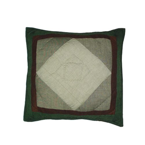 Bear Trail Patchwork Cotton Toss Pillow